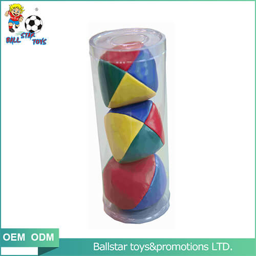 Plastic tube packaging juggling ball