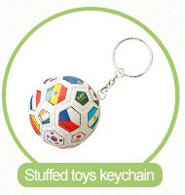 stuffed ball ketchain