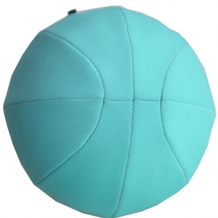 Blue neoprene inflatable bouncing ball