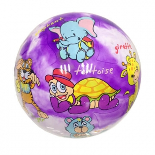 Animals pattern inflatable rubber ball