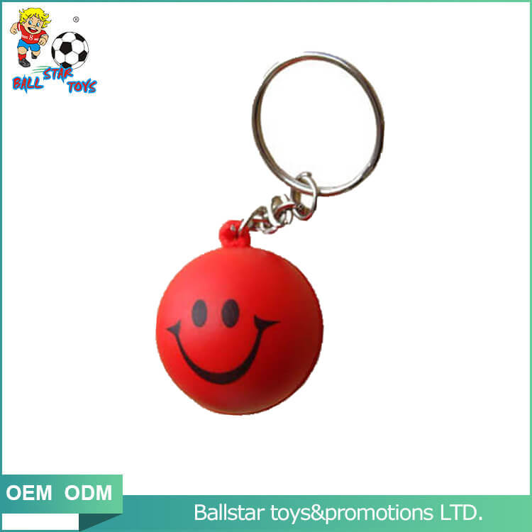 PU foam smiling face keychain