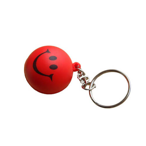 Smiling face keychain